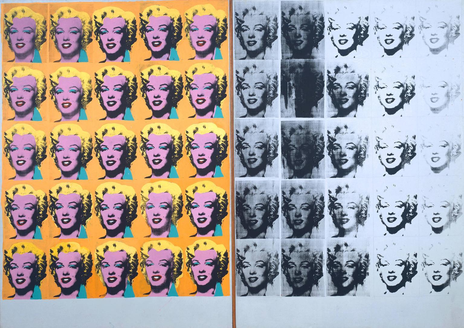 20th century art andy warhol howard bosler artist marilyn diptych 1962